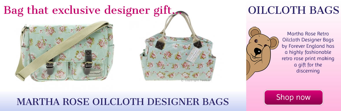 Martha Rose Oilcloth Designer Saddle & Tote Bags by Forever England