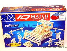 3D Match Kids Construction Set Bulldozer Digger