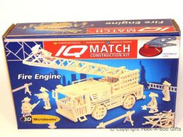3D Match Kids Construction Set Fire Engine