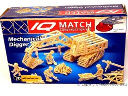 3D Match Kids Construction Set Mechanical Digger