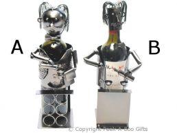 Metal Novelty Wine Waiter Shaped Wine or Spirit Bottle Holder
