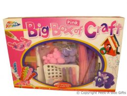 Activity Kids Craft Big Pink Box of Craft Large Gift Set