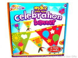 Activity Kids Craft Set Make Your Own Celebration Banner 12 Flag