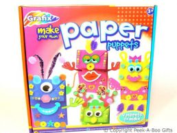 Activity Kids Craft  Set Make Your Own Paper Puppets with Accessories