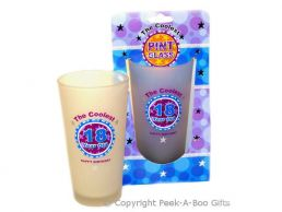 Frosted Coolest 18th Birthday Pint Gift Beer Glass
