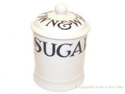 Emma Bridgewater Black Toast 1 Pint Sugar Storage Jar with Seal
