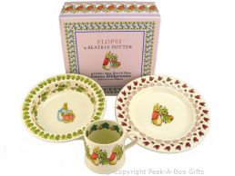 Emma Bridgewater Beatrix Potter Flopsy Rabbit 3pc Feeding Gift Set