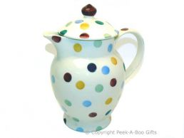 Emma Bridgewater Polka Dot Coffee Pot with Lid - 23cm