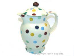Emma Bridgewater Polka Dot Coffee Pot with Lid - 23cm