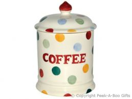 Emma Bridgewater Polka Dot 1 Pint Coffee Storage Jar with Seal