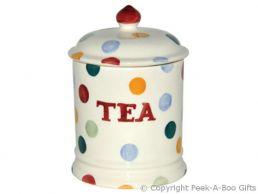 Emma Bridgewater Polka Dot 1 Pint Tea Storage Jar with Seal