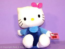 Hello Kitty 12'' Sitting Soft Toy in Blue Outfit