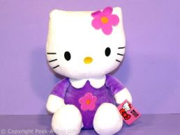 Hello Kitty 12'' Sitting Soft Toy in Lilac Outfit