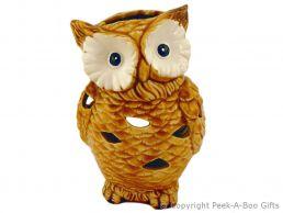 Owl Shaped Ceramic Tea Light Candle Light Holder