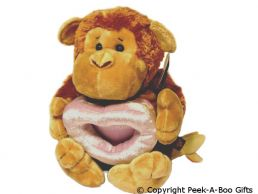 Cheeky Monkey with Photo Frame Soft Toy