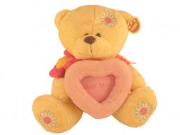 Best Mum 10'' Bear With Photo Frame & Flower Soft Toy