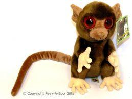 """Exotic Species Bush Baby Soft Toy 9"""" Dark Brown"""