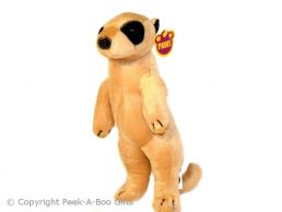 Kalahari Meerkat Standing Plush Soft Toy - 28cm Tall