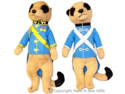 Standing Meerkat Plush Soft Toy in 2 Assorted Uniforms 14""