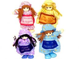 Mum Message Small Standing Rag Doll