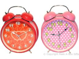 Jumbo Girly Double Bell Alarm Clock