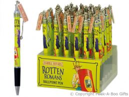 Horrible Histories Rotten Romans Metal Pen with Clip & Charm