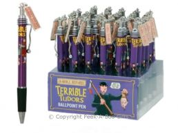 Horrible Histories Terrible Tudors Metal Pen with Clip & Charm