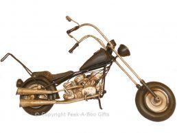 Nostalgic Tin Harley-Davidson Hog Type Motorbike Medium Metal Model