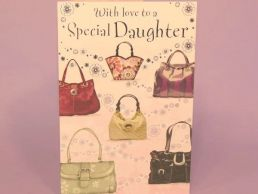 Daughter Contemporary Birthday Card Handbags-C75
