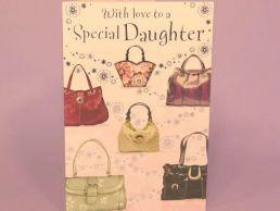 Daughter Contemporary Birthday Card Handbags-C75