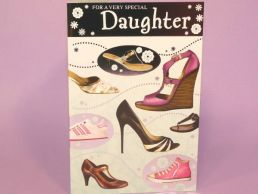 Daughter Contemporary Birthday Card Shoes-C75
