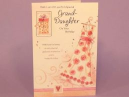 GrandDaughter Birthday Card - Special Dress-C75