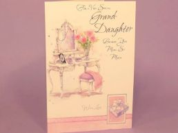 GrandDaughter Birthday Card - Dressing Table-C75