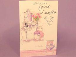 GrandDaughter Birthday Card - Dressing Table-C75