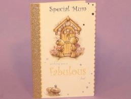 Mum Birthday Card Bears at the Door- Fabulous Day-C75