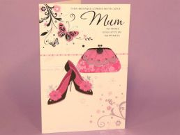 Mum Birthday Card Handbag & Shoes-C75