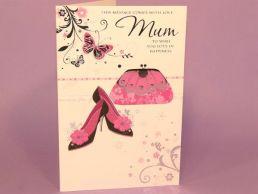 Mum Birthday Card Handbag & Shoes-C75