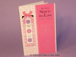 Sister in Law Birthday Card Style Glittered Just For You with Bow-C75