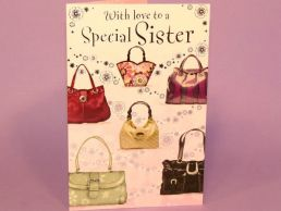 Sister Birthday Card Contemporary Handbags-C75