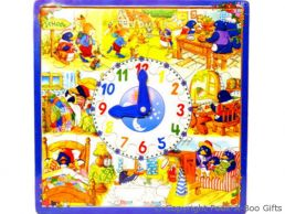 Large Wooden Pull Out Jigsaw Puzzle with Clock