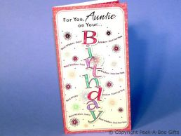 Auntie Birthday Contemporary Card 3D Birthday in Letters-C75S