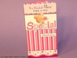 Niece Birthday Contemporary Cute Card Special 3D Bear-C75S