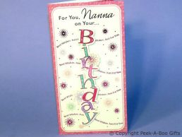 Nanna Birthday Card 3D Birthday in Letters -C75S