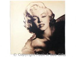 "Marilyn Monroe Pouting Canvass Frameless Retro 11"" Square Picture"