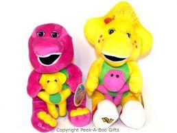 Barney & BJ Dinosaur Sitting Soft Toys Holding Baby
