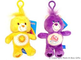"""Care Bear 5"""" Soft Toy Key Ring & Bag Clip - Series 1"""