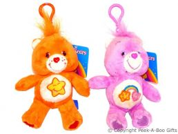 """Care Bear 5"""" Soft Toy Key Ring & Bag Clip - Series 2"""