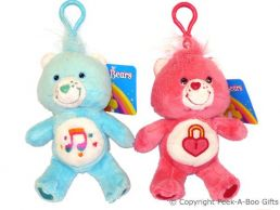 """Care Bear 5"""" Soft Toy Key Ring & Bag Clip - Series 3"""
