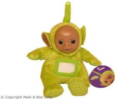 """Dipsy 11"""" Green Teletubbies Activity Soft Toy by Tomy"""