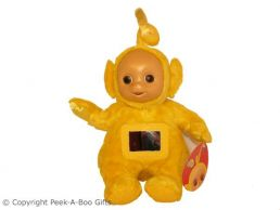 """Laa-Laa 11"""" Yellow Teletubbies Activity Soft Toy by Tomy"""